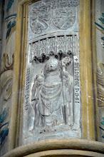 Photo: Pietra tombale del vescovo di Asti Baldraco Malabayla, scolpita da Giovanni Chiela (1353)