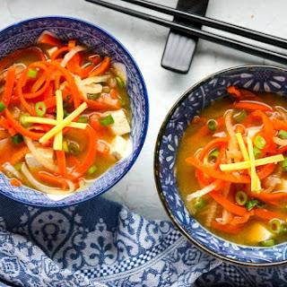 Vegetable Miso Soup – Miso Based Vegetable Soup.