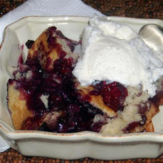 Luscious Berry Custard Cobbler