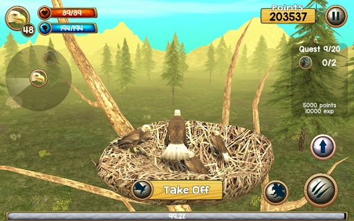 Wild Eagle Sim 3D apkpoly screenshots 9