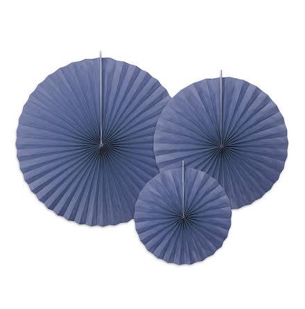 Dekorationsrosetter - Marinblå