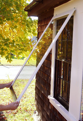 This old farmhouse the wooden storm window project - Interior storm windows for old houses ...