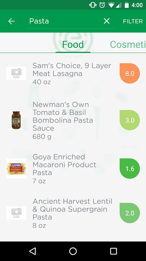 EWG's Healthy Living- screenshot