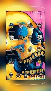 Colorful Skull Graffiti screenshot 1