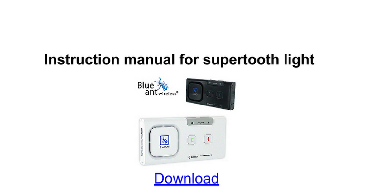 Mobidick voice инструкция supertooth