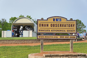 Photo: As we arrive, the roof of the main Onan Observatory has been rolled back.