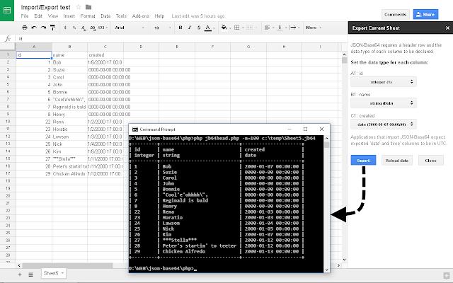 JSON-Base64 Import/Export - G Suite Marketplace