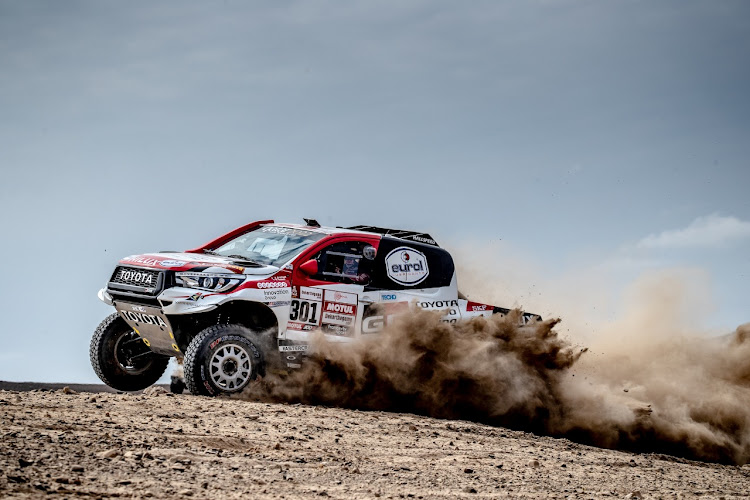Nasser Al-Attiyah, who also won Monday's opening stage, retook the lead of the 2019 Dakar rally on Wednesday. Picture: SUPPLIED