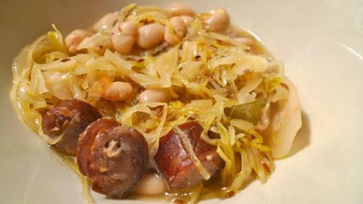 Sausage, Bean and Sauerkraut Soup
