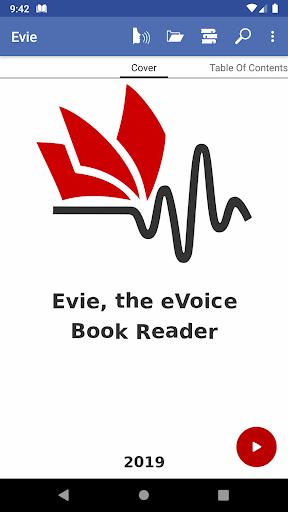 Evie - The eVoice book reader 4.1.2 screenshots 1