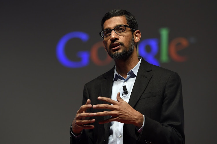 Google CEO Sundar Pichai. Picture: AFP