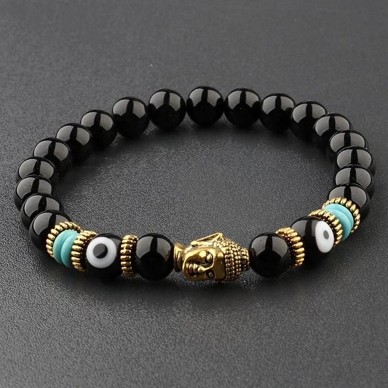 Buddha And Evil Eye Bracelet Charm For Men And Women