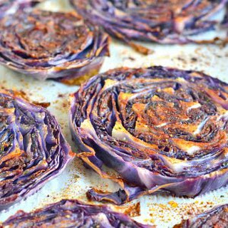 Roasted Purple Cabbage.