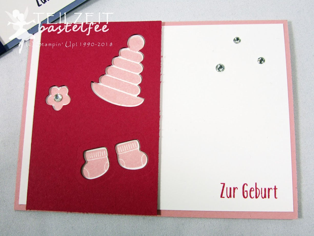 Stampin' Up! - IN{K}SPIRE_me Challenge, Something for Baby, Girls, Mädchen, Geburt, Unentbärliche Grüße, Baby Bear