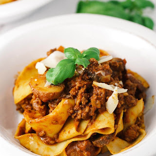 Hearty Beef Bolognese Sauce with Pappardelle Pasta