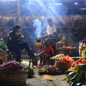 Market in the village by Basuki Mangkusudharma - City,  Street & Park  Markets & Shops ( market, village )