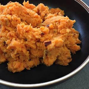 Chipotle Smashed Sweet Potatoes