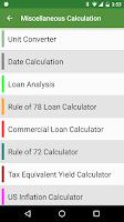 Screenshot of Financial Calculators Pro
