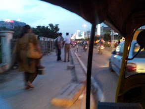 Photo: In motion on an auto rickshaw.
