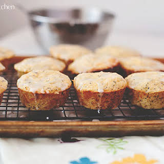 Pineapple Poppy Seed Surprise Muffins.