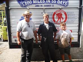 Photo: Day 44 London ON to Brantford ON Aug 2 2013  Robert Kolesar, Tony Kraemer, and son Jack