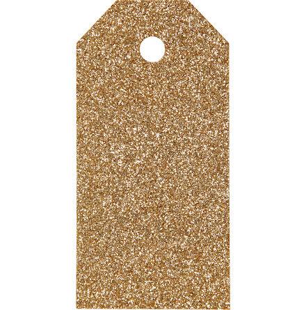 Manillamärken 5x10cm guld 15st
