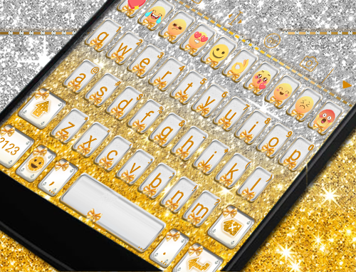玩免費遊戲APP|下載Golden Bow Eva Keyboard -Gifs app不用錢|硬是要APP