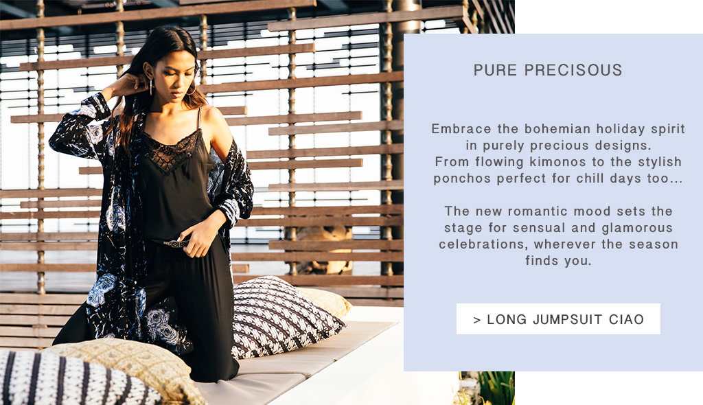 Poupette St Barth. Embrace the bohemian holiday spirit in purely precious designs.  From flowing kimonos to the stylish ponchos perfect for chill days too…  The new romantic mood sets the stage for sensual and glamorous  celebrations, wherever the season finds you.