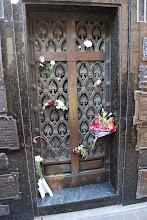 Photo: Flowers still being left for evita
