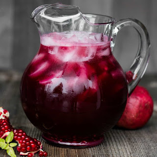 Spiked Pomegranate Punch.