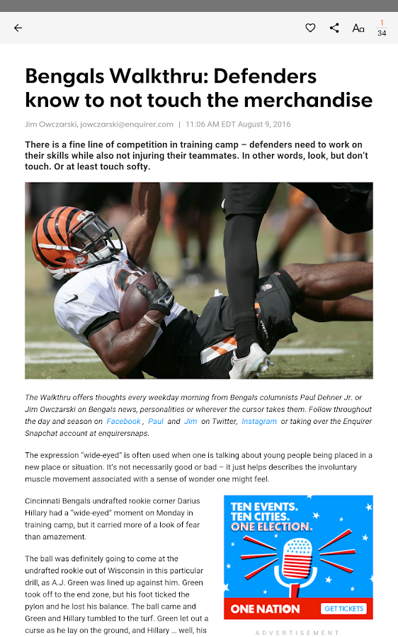 Cincinnati Bengals- screenshot