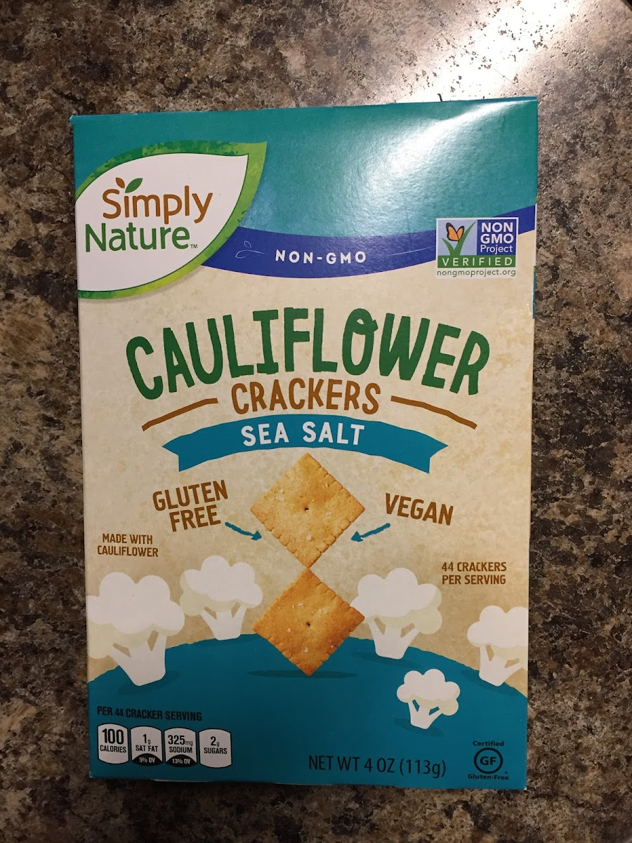 Cauliflower Crackers With Sea Salt