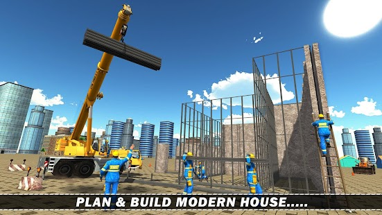 Modern House Construction 3D Screenshot