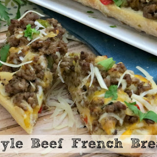 Cheesy Philly-Style Beef French Bread Pizza | Great Game Day Recipe!