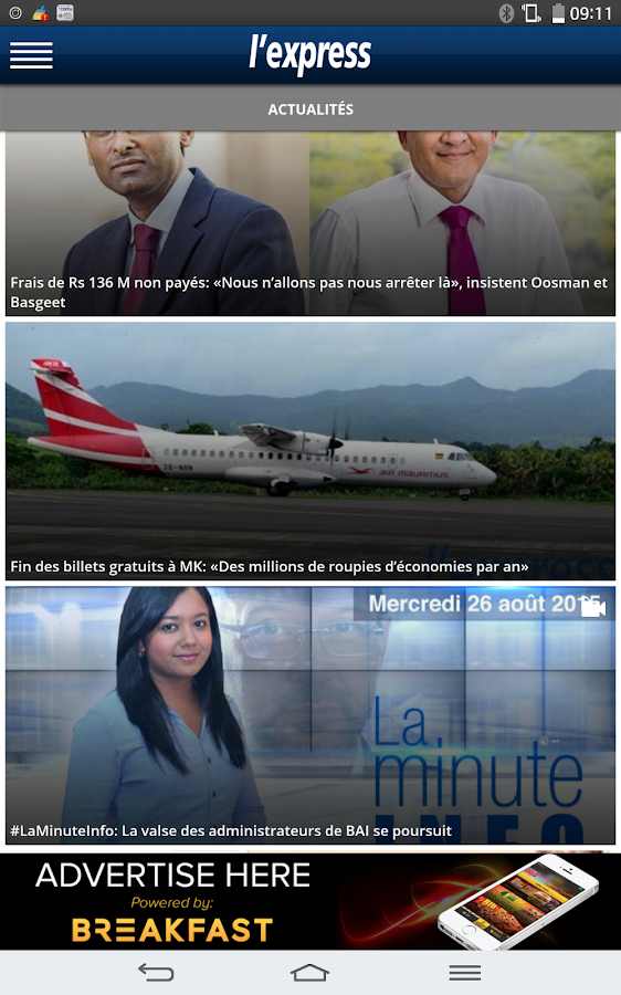 L'Express (La Sentinelle LTD)- screenshot