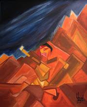 Photo: Man In Mountain3' x 2.5'2007Acrylic on Canvas
