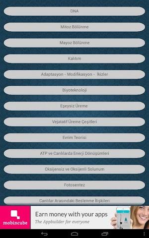android FEN VE TEKNOLOJİ (TEOG)8.SINIF Screenshot 1