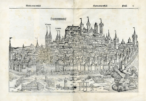 View of Nuremberg from the Southeast, from the Nuremberg Chronicle of Hartmann Schedel