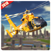 American Rescue Helicopter Simulator 3D Android APK Download Free By Extreme Simulation Games Studio