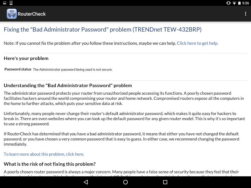 RouterCheck Screenshot 11