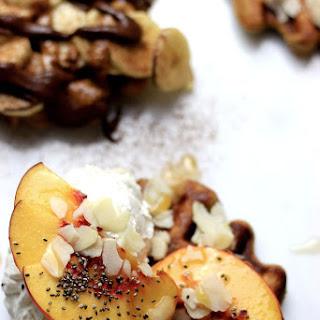 Nectarines & Cream Paleo Waffles