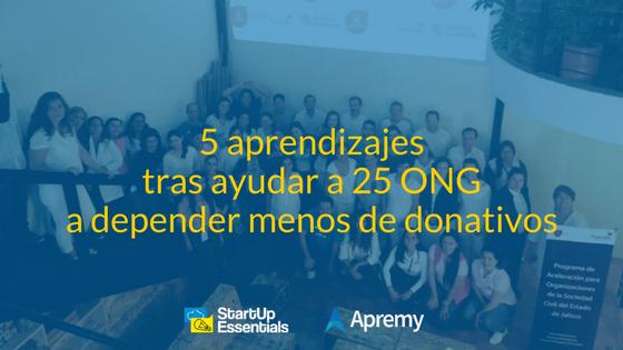 5 aprendizajes tras ayudar a 25 ong a depender menos de donativos - Blog de Apremy