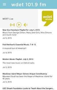 WDET- screenshot thumbnail