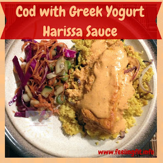 Cod with Greek Yogurt Harissa Sauce