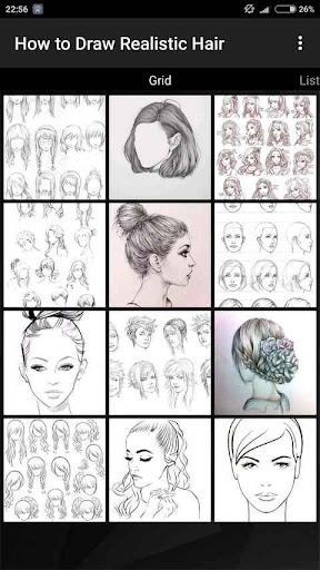 How to Draw Realistic Hair  screenshots 3