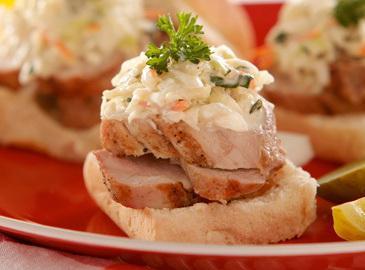 Grilled Pork Tenderloin Sliders & Blue Cheese Slaw Recipe