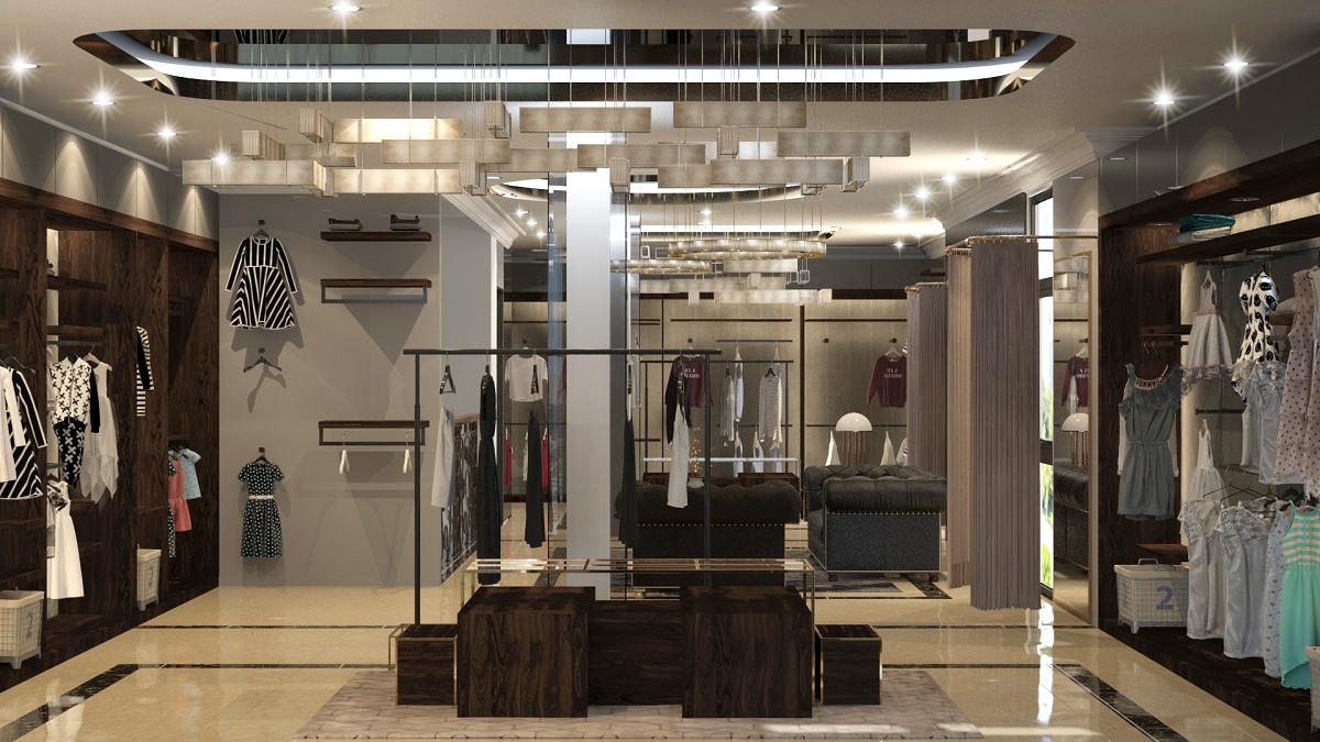 thiết kế shop thời trang sang trọng 18