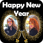 New Year Dual Photo Frame