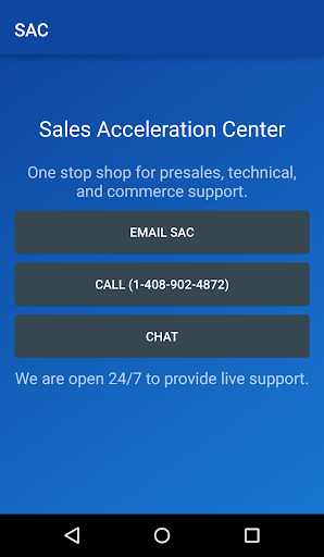 SAC: Sales Acceleration Center