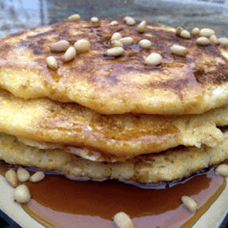 Corn Pancakes with Bourbon Agave Maple Syrup Recipe